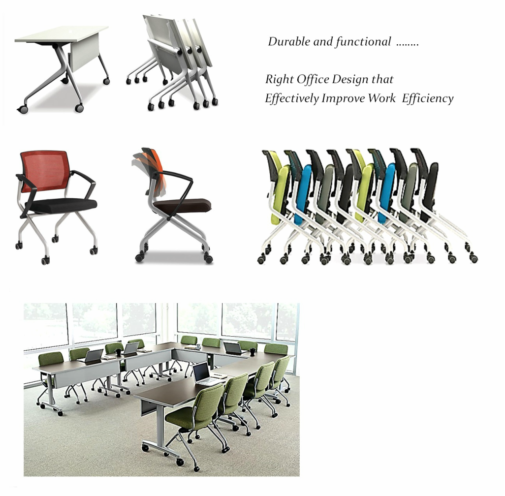 Foldable Training Tables Chairs - Foldable training table